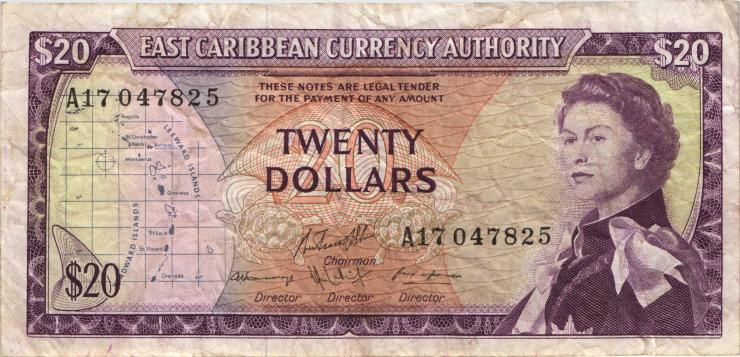 Ost Karibik / East Caribbean P.15g 20 Dollars (1965) (4)