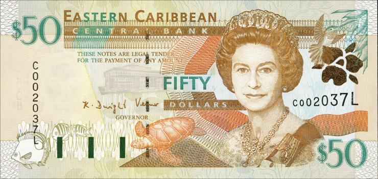 Ost Karibik / East Caribbean P.40l 50 Dollars (2000) St. Lucia (1)