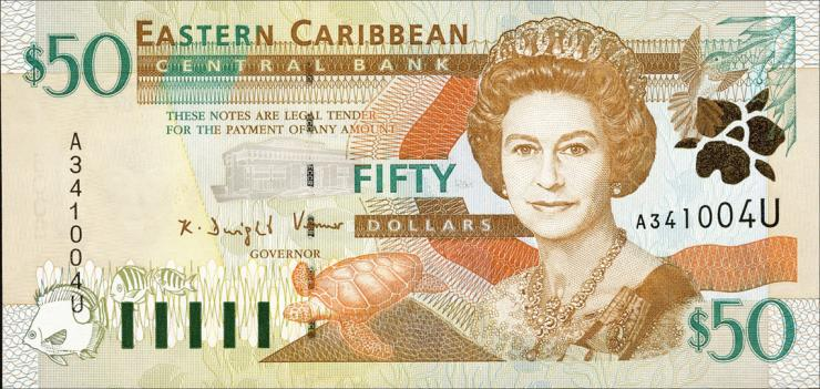 Ost Karibik / East Caribbean P.40u 50 Dollars (2000) Anguilla (1)
