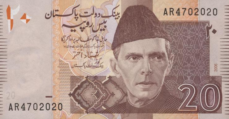 Pakistan P.46b 20 Rupien 2006 (1)