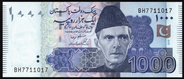 Pakistan P.50e 1000 Rupien 2010 (1)