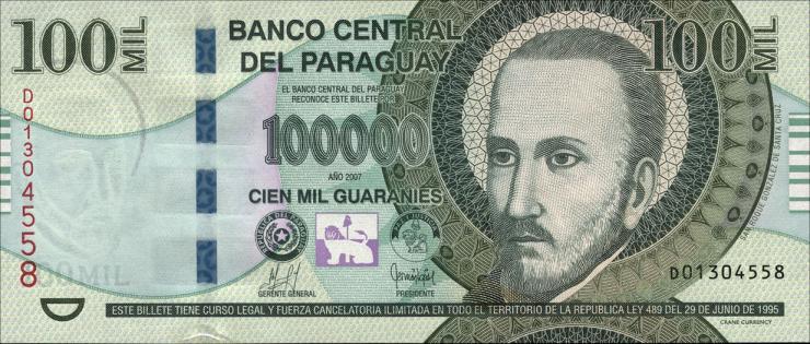 Paraguay P.233a 100.000 Guaranies 2007 (1)