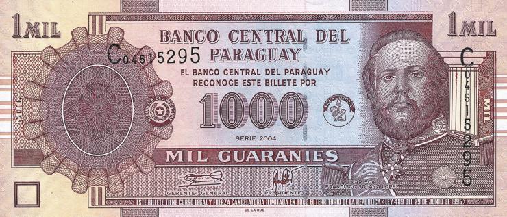 Paraguay P.222a 1000 Guaranies 2004 (1)