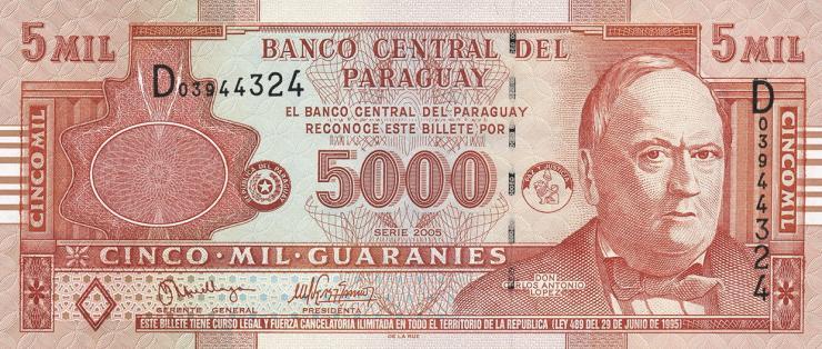 Paraguay P.223a 5000 Guaranies 2005 (1)