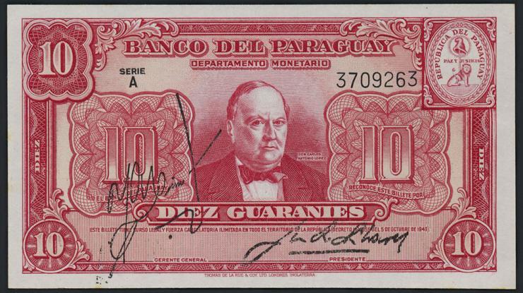 Paraguay P.180 10 Guaranies 1943 (1)
