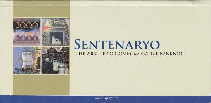 Philippinen / Philippines P.neu 2000 Piso 2001(2012) (1)