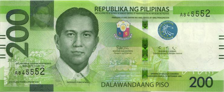 Philippinen / Philippines P.226 200 Piso 2020 (1)