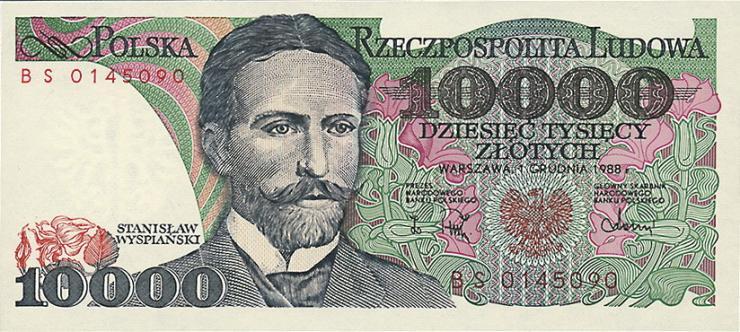 Polen / Poland P.151b 10000 Zlotych 1988 (1)