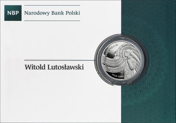 Polen 10 Zlotych 2013 Lutoslawski (Silber)