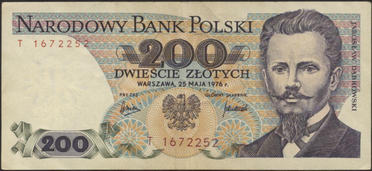 Polen / Poland P.144a 200 Zlotych 1976 (3)