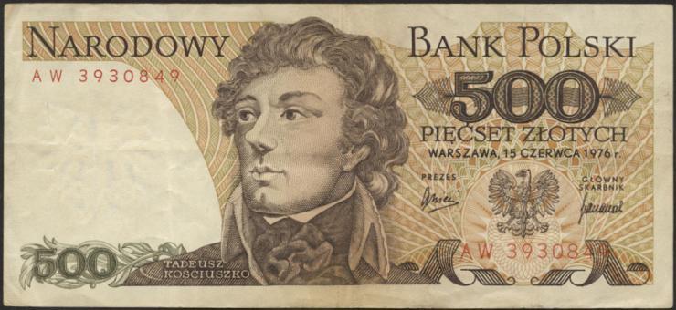 Polen / Poland P.145b 500 Zlotych 1976 (3)