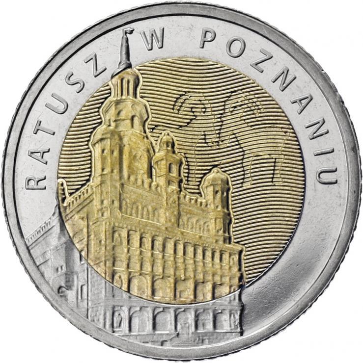 Polen 5 Zlotych 2015 Rathaus Poznan