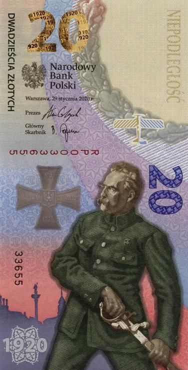 Polen / Poland P.neu 20 Zlotych 2020 Gedenkbanknote (1)