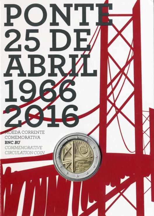 Portugal 2 Euro 2016 Brücke des 25. April im Folder stg
