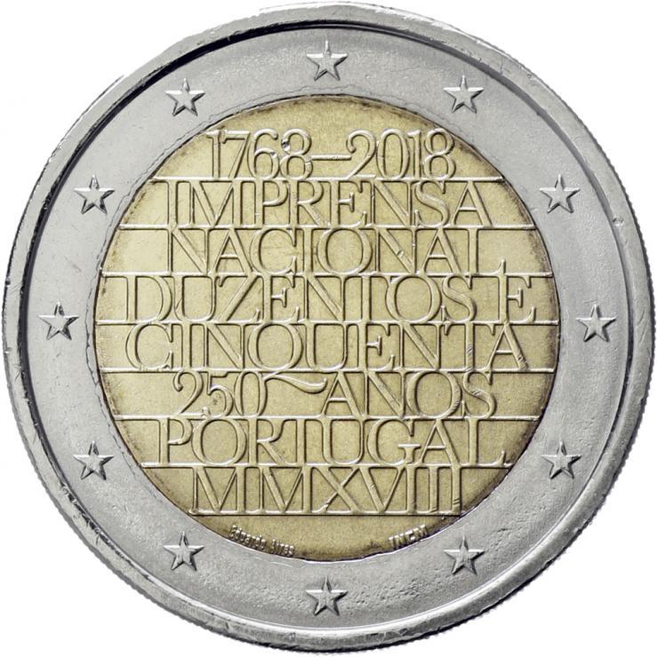 Portugal 2 Euro 2018 250 J. Münzstätte