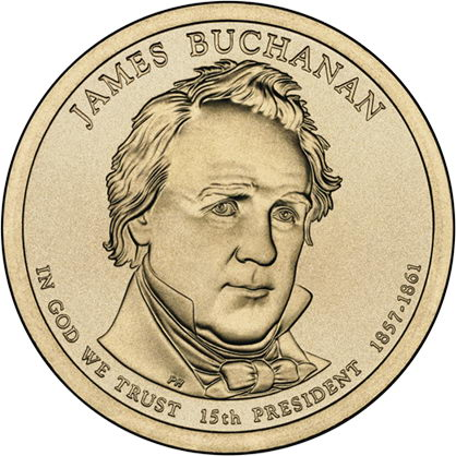USA 1 Dollar 2010 15. Buchanan
