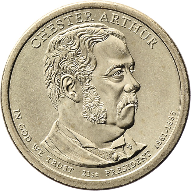 USA 1 Dollar 2012 21. Chester A. Arthur