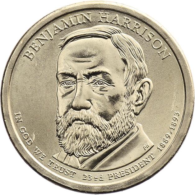 USA 1 Dollar 2012 23. Benjamin Harrison