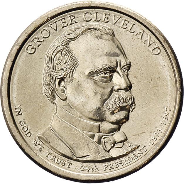 USA 1 Dollar 2012 24. Grover Clevland 2. Amtszeit