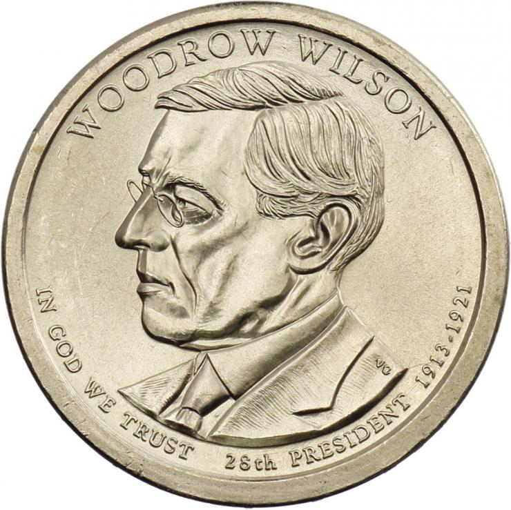 USA 1 Dollar 2013 28. Woodrow Wilson