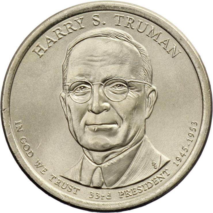 USA 1 Dollar 2015 33. Harry S. Truman