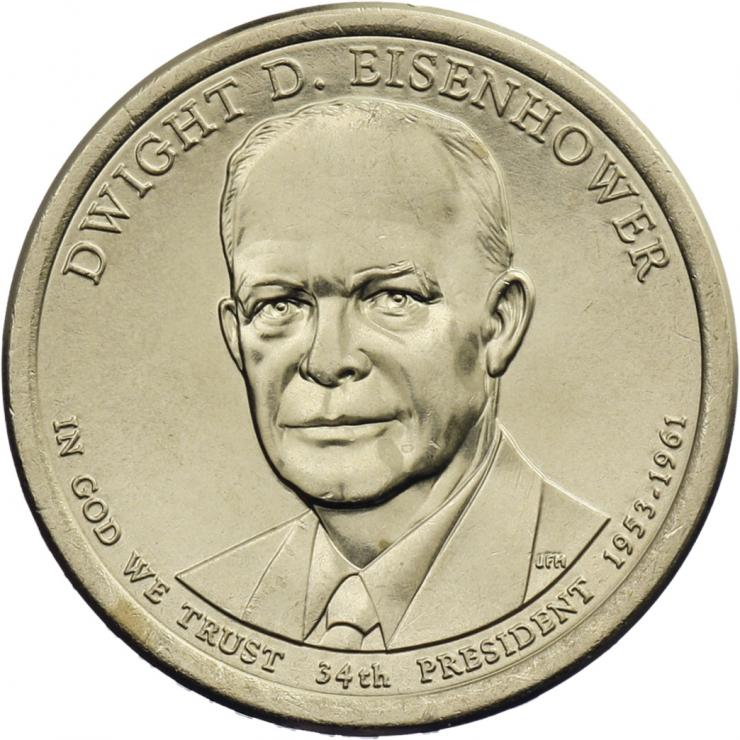 USA 1 Dollar 2015 34. Dwight D. Eisenhower