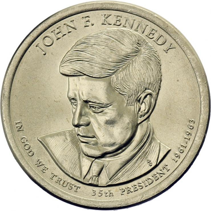 USA 1 Dollar 2015 35. John F. Kennedy