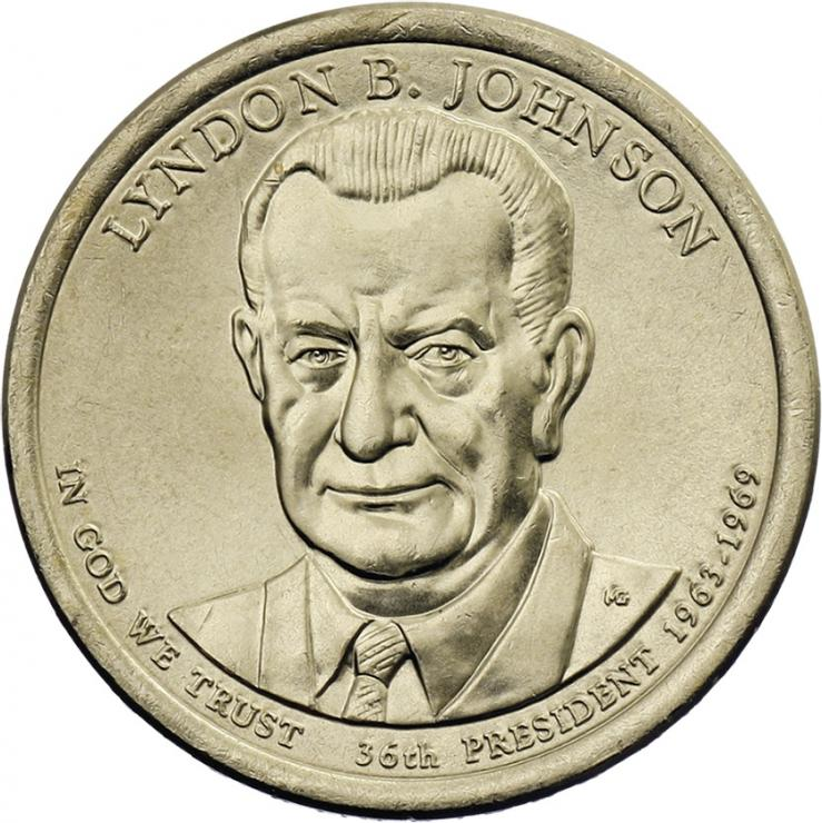 USA 1 Dollar 2015 36. Lyndon B. Johnson