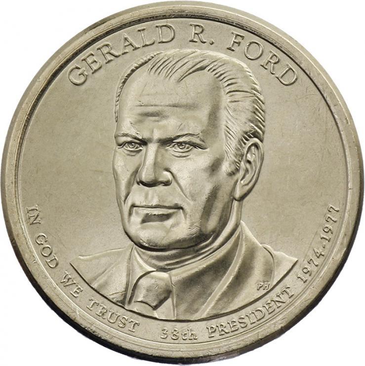 USA 1 Dollar 2016 38. Gerald R. Ford