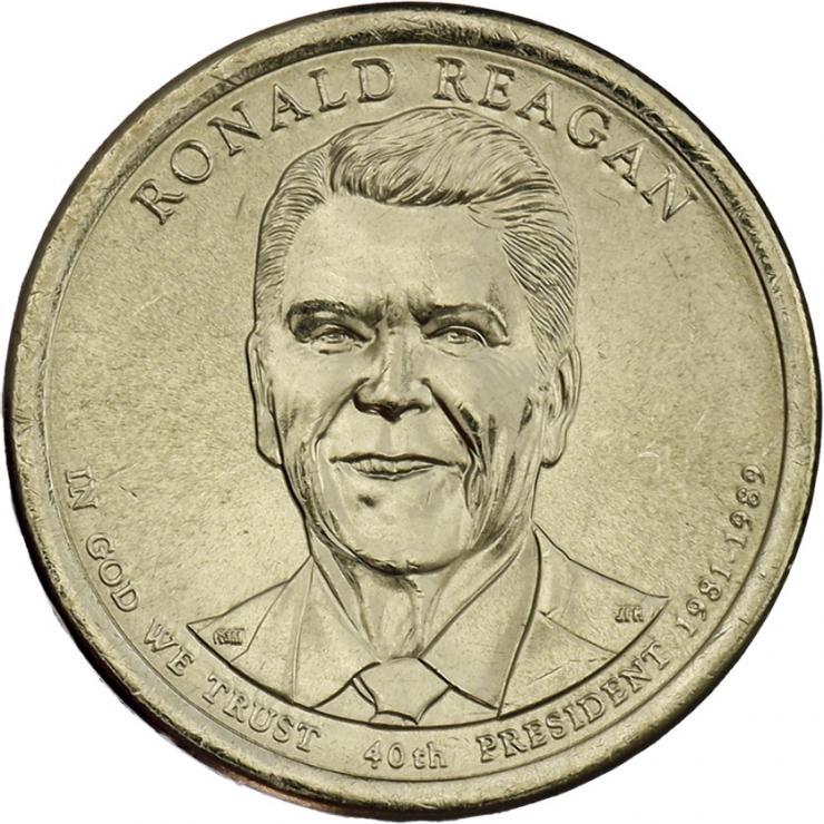 USA 1 Dollar 2016 40. Ronald Reagen