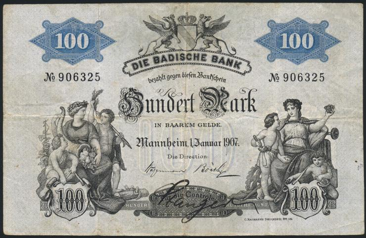 R-BAD 05b: 100 Mark 1907 (3+)