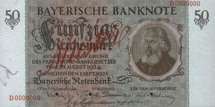 R-BAY 25M: 50 Reichsmark 1924 Muster (1)
