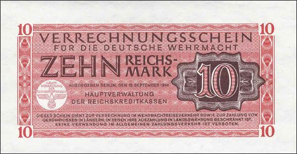 R.513: Wehrmachts-Verrechnungsschein 10 Reichsmark 1944 (1)