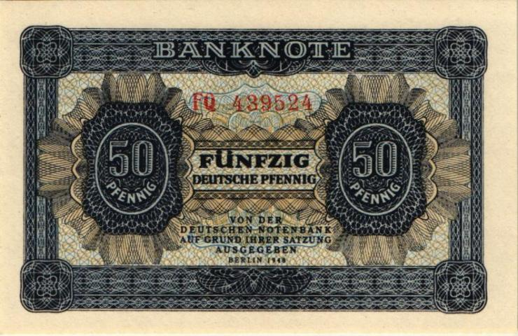 R.339b: 50 Pfennig 1948 -stellig Serie FQ (1)