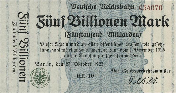 RVM-16a Reichsbahn Berlin 5 Billionen Mark 1923 (1)