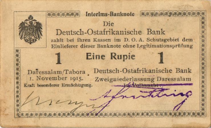 R.916m: Deutsch-Ostafrika 1 Rupie 1915 T (2)