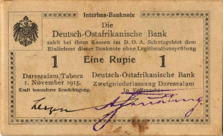 R.916r: Deutsch-Ostafrika 1 Rupie 1915 B2 (1-)
