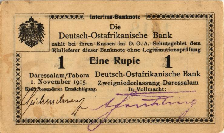 R.916t: Deutsch-Ostafrika 1 Rupie 1915 D2 (1-)