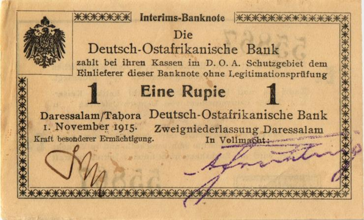 R.916u: Deutsch-Ostafrika 1 Rupie 1915 E2 SN:55867 (1-)