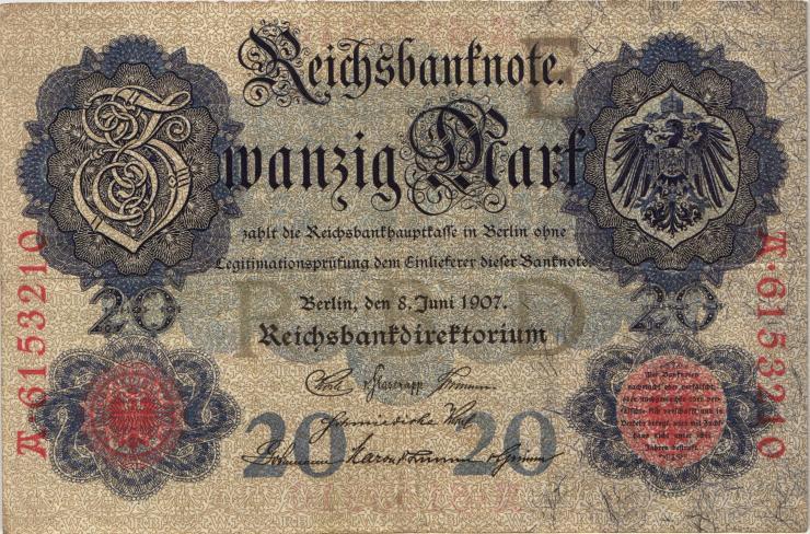 R.028: 20 Mark 1907 (3+)