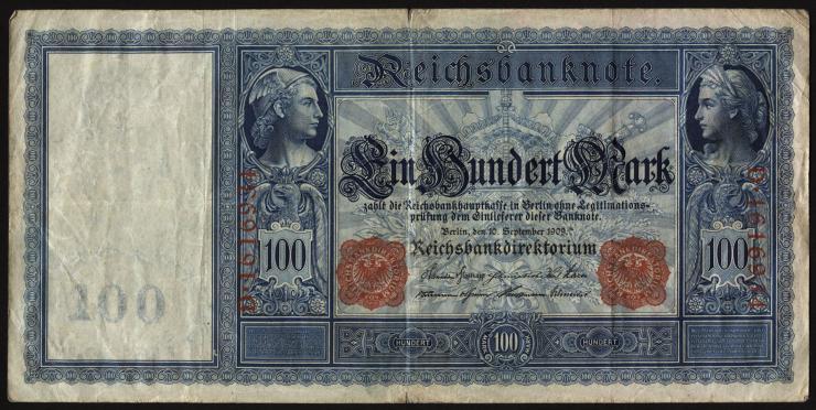 """R.038 100 Mark 1909 """"Flottenschein"""" (3)"""