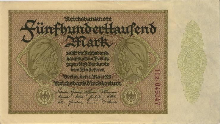 R.087g 500.000 Mark 1923 Z (1-)