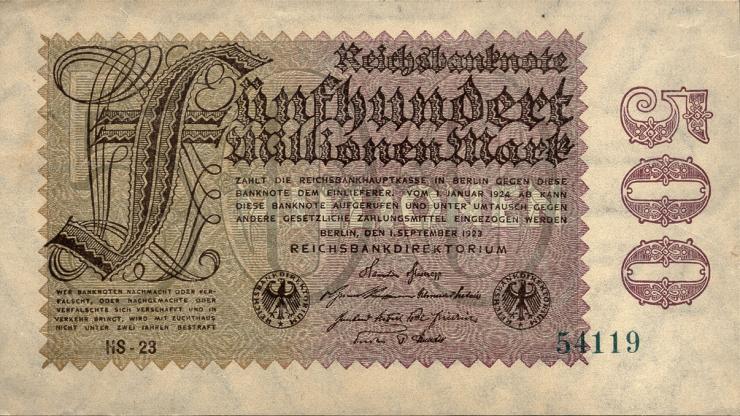 R.109c: 500 Mio. Mark 1923 (1/1-)