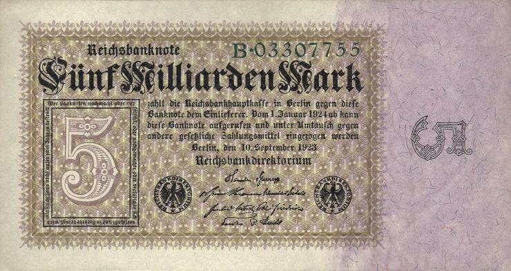 R.112a: 5 Milliarden Mark 1923 Reichsdruck  (1)