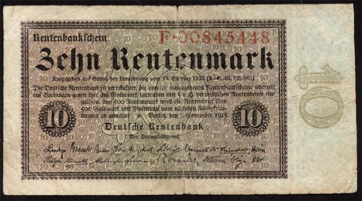 R.157: 10 Rentenmark 1923 (4)