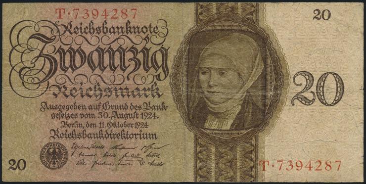 R.169: 20 Reichsmark 1924  M/T (4)