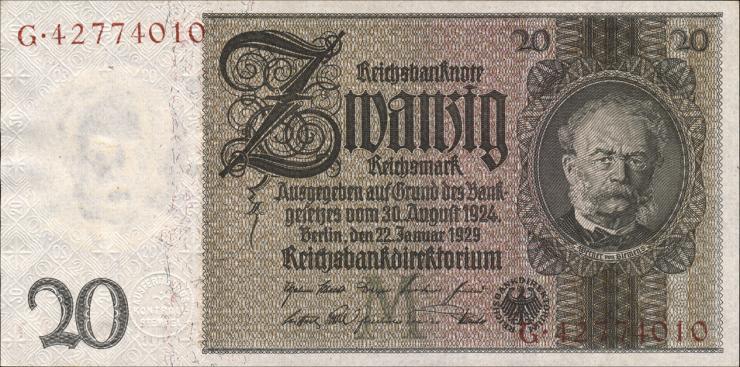 R.174b: 20 Reichsmark 1929 (1)