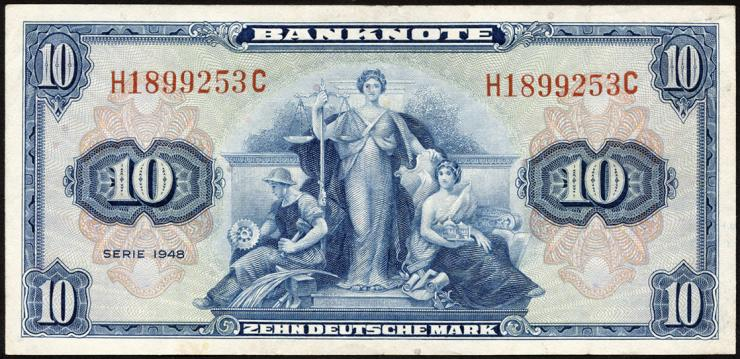 R.238 10 DM 1948 (3+)