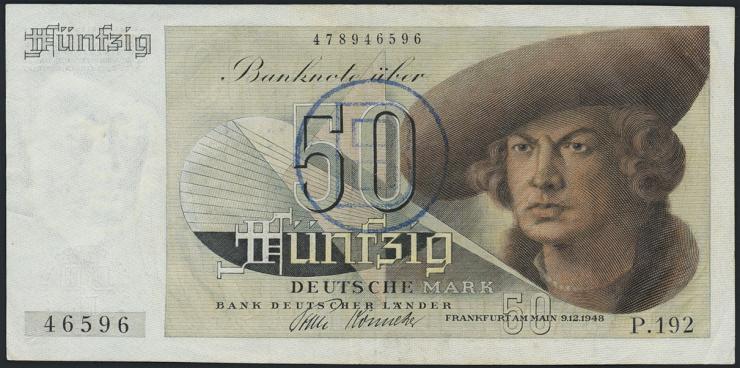 R.255 50 DM 1948 B - Stempel (2)