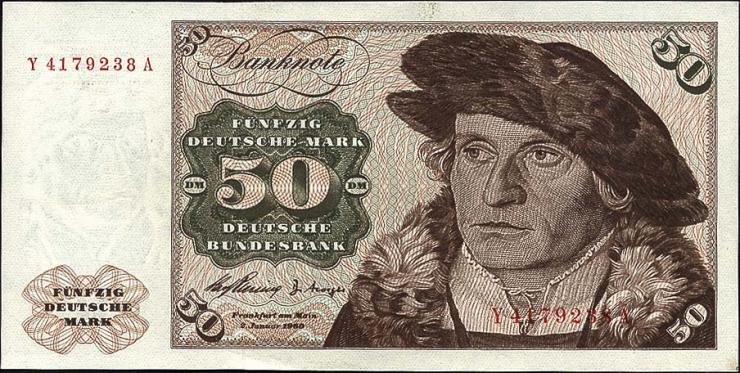 R.265d 50 DM 1960 Y/A Ersatznote (1)